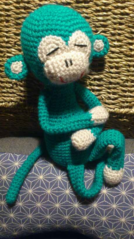 Amigurumi Monkey Etsy : Items similar to Amisaru Pattern (crochet monkey amigurumi ...