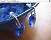 SALE SALE Stunning Blue Topaz AAA Gemstone Sterling Silver Stud Earrings