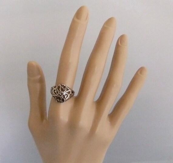 Sterling Silver Filligree Design Ring