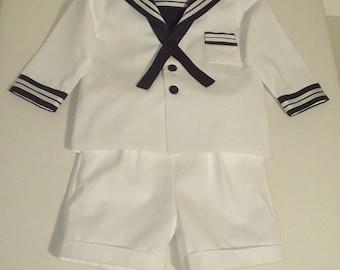 Traditional Sailor Suit for a Little Boy