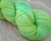 Glow Worm - 100g Hand Dyed Merino Lace Yarn