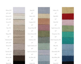 Linen fabric by Yard: All Weights Swatch book