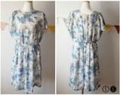 Vintage Linen Floral Dress