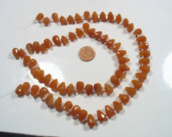 FANTASTIC DEAL- 2 x strand Carnelian  faceted tear drops- Time to go 8