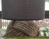 Nautical Decor - One knotty lamp - with  brown shade - KarensWeddingShop