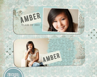 INSTANT DOWNLOAD Senior Rep Card Template Photoshop Senior / Any Occasion vol.1