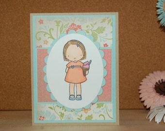 Ice Cream Girl Card