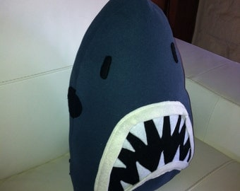 Shark attack, jaws cushion/toy.  Made to order.