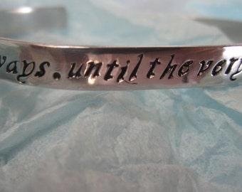 Always. Until the very end Script.. Bracelet