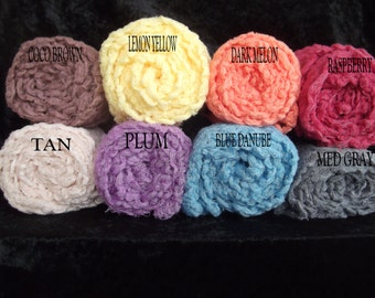 Newborn Photography Cheesecloth wraps..Set of Five...Newborn photo props.. Cheesecloth wraps