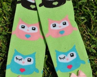 GIrl Owl Leg Warmers- Customize Available
