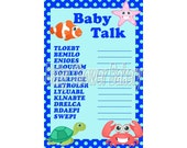 Under the Sea Baby Shower Game, Printable Baby Shower Word Scramble, Under the Sea Baby Shower, Instant Download Baby Shower