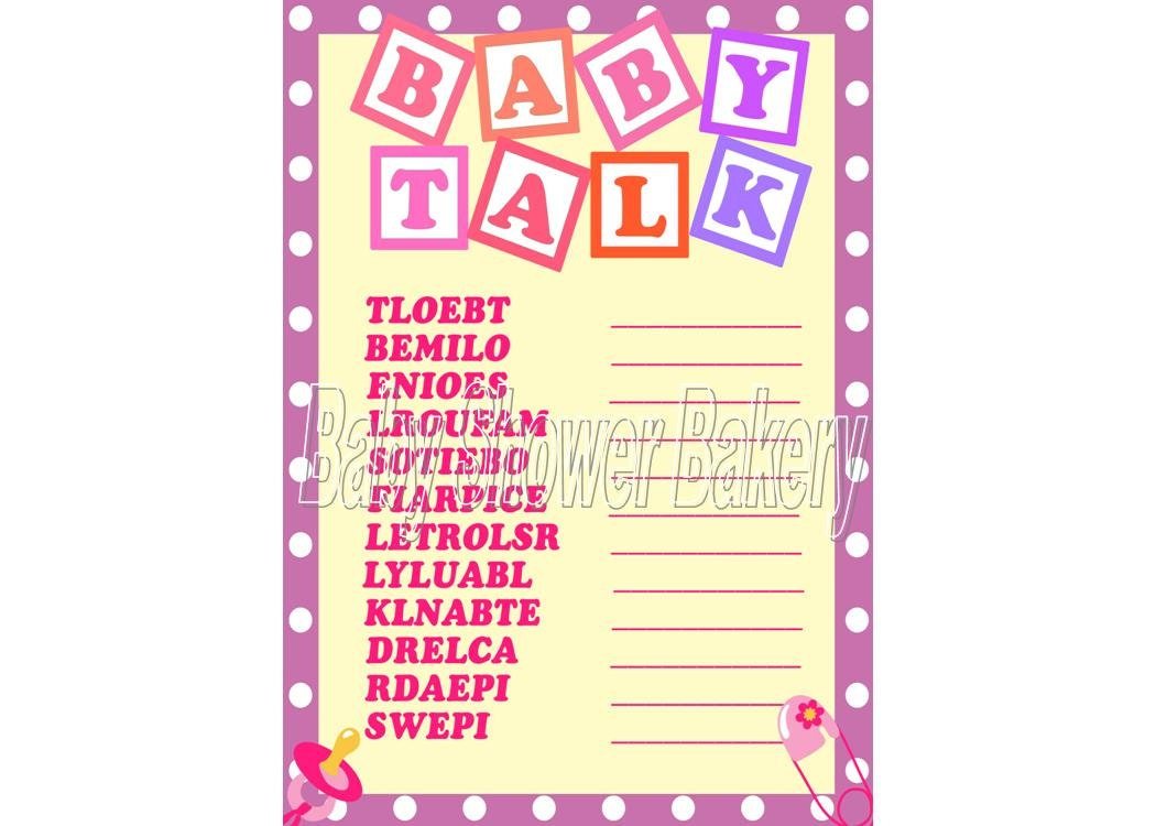 baby shower game baby word scramble printable baby shower