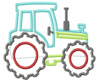 Tractor Applique Design INSTANT DOWNLOAD