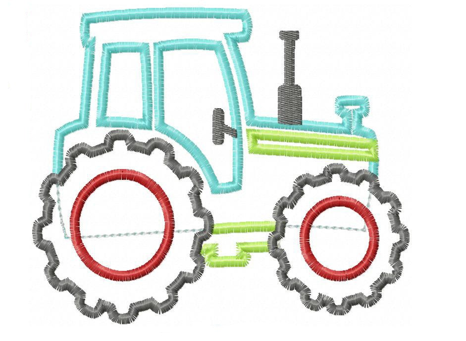Tractor applique design instant download by
