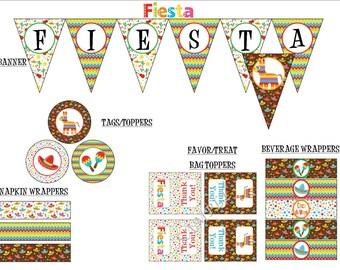 Fiesta Party Package - Printable Package