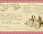 Recipe for a Happy Marriage - Gift for the bride (Digital)