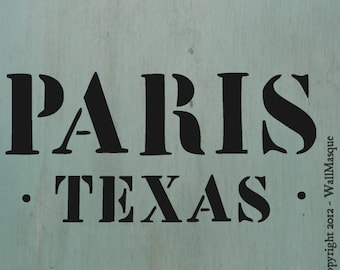 "Paris Texas Stencil -10""x4.7"""