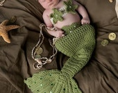 Baby Mermaid Costume Tail Prop Sets  made to order