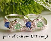 BFF Ring Friendship Ring Wire Wrapped Jewelry Handmade Best Friends Jewelry Best Friend Ring Gift for Best Friend Gift for BFF Gift ITEM030