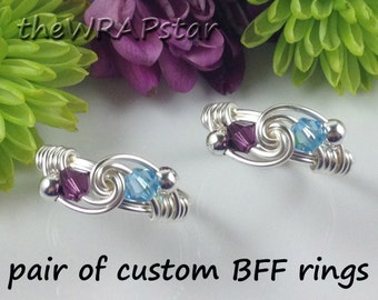 Friendship Ring Gift for Best Friend Personalized Jewelry Personalized Birthstone Jewelry BFF Ring BFF Jewelry Best Friend Jewelry ITEM0307