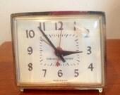 Vintage 1960's GE Electric Gold Alarm Clock