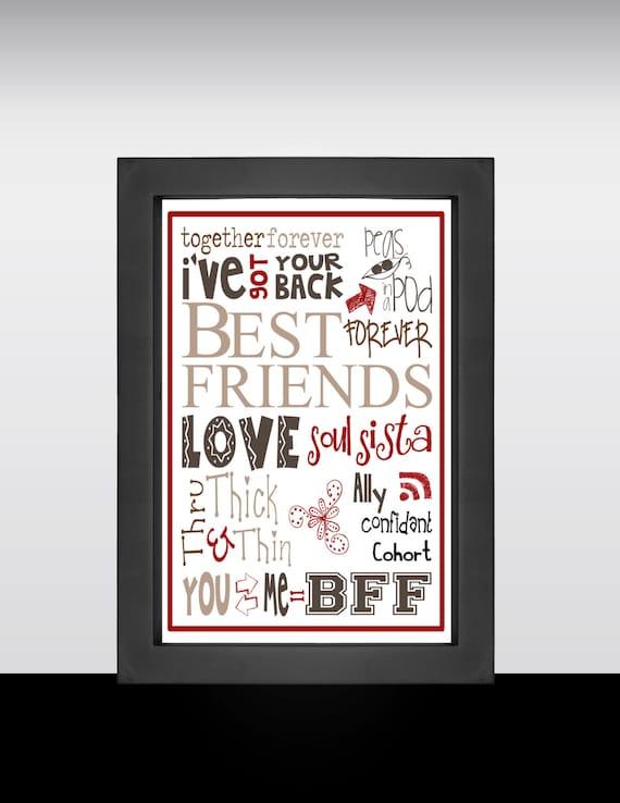 items similar to word art best friends art best friends