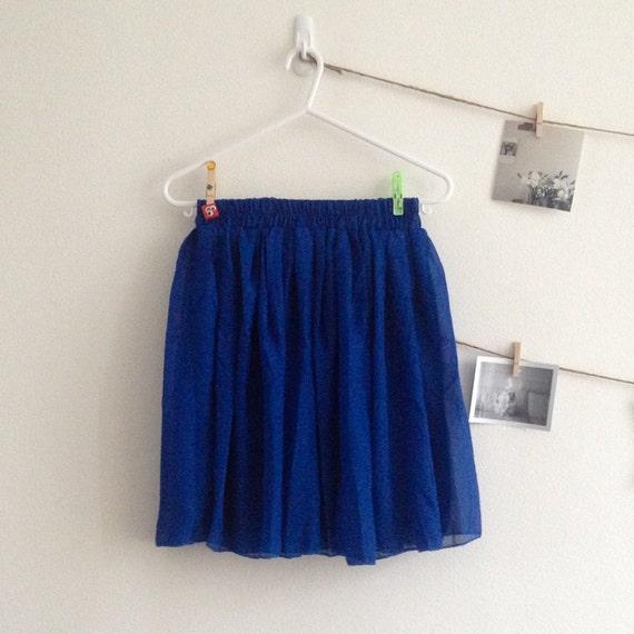 blue chiffon skirt