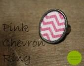 Pink Chevron Ring
