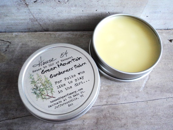 Green Mountain Gardeners' Balm, Rosemary Salve, Made in Vermont.
