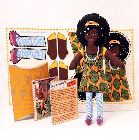 Afro Rag Doll Kit Gift for Girls