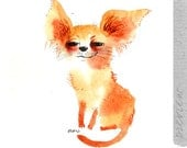 The chihuahua dog, original painting by ozozo