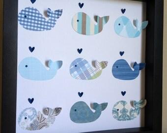Blue Whale, 3D paper Art
