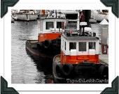 "Blank Greeting Card, Photograph: ""Tugs"""