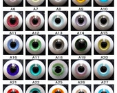 Customize bjd glass eyes,BJD MSD Doll Eyes -One Pair any size and colors choose