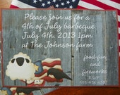 patriotic,4th of July,barbecue invitation.  OFG Team