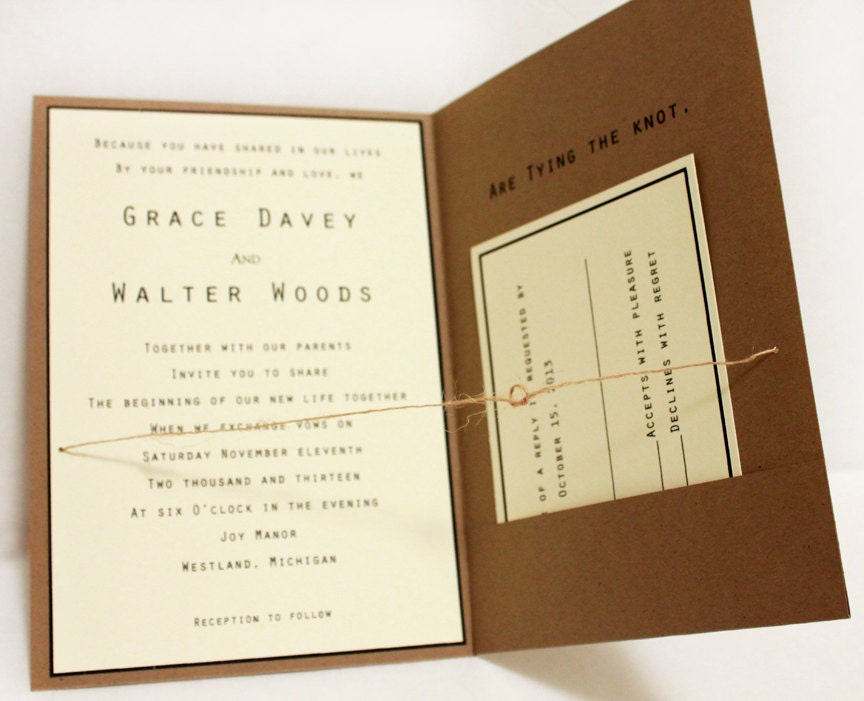 Rustic Wedding Invitation Packages for good invitations ideas