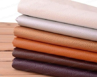 """27"""" x 18'' Faux Leather Fabric,Soft Semi-Pu Leather In Big Lychee Skin Faux Leather Fabric,Soft Leather For Upholster,Bags Craft"""