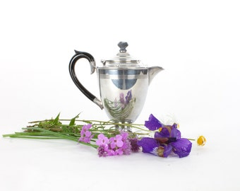 Rogers Plate Deco Silver Coffee Pot as Vase