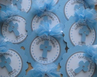 Personalized Baptism Favor Tags.....Confirmation, First communion, Christening Set Of 12