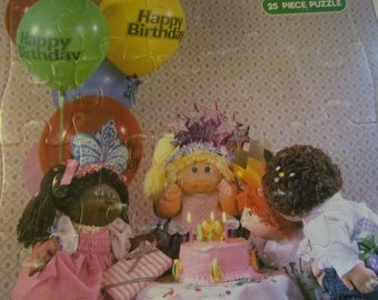 Cabbage Patch Birthday Party Childrens Puzzle 1984 CPK  Dolls Cabbage Patch kids