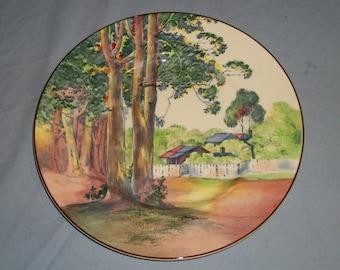 Royal Doulton Plate D.6309. Trees & Settlement