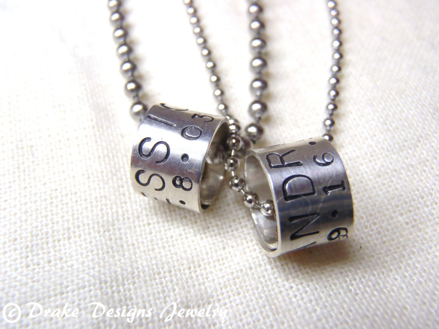 matching jewelry personalized necklace set