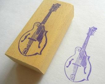 Musical Instrument Rubber Stamp Mandolin