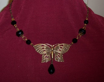 Goth Moth Necklace