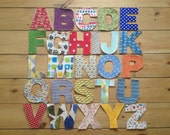 Quilted fabric alphabet letters - uppercase - handmade, educational & fun