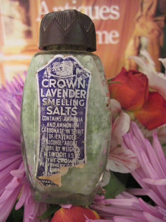 Antique Crown Lavender Smelling Salts London Schieffelin Ny