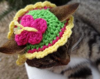 Easter Cat Hat, Easter Dog Hat - The Butterfly Springtime Pet Hat