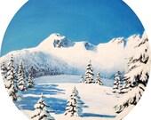 "Original acrylic painting ""Winter Solstice"" by Anna Starkova"