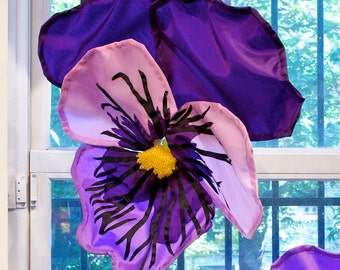 Pansy, Purple and Pink, 12 times life size